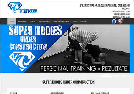 T Gym - Cluj-Napoca Site: www.tgym.ro
